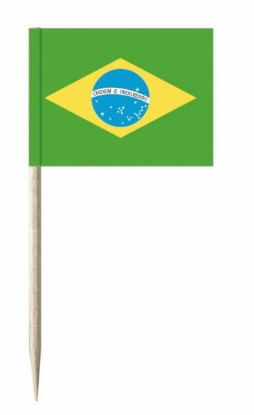 Minifahnen Brasilien 50 Stück