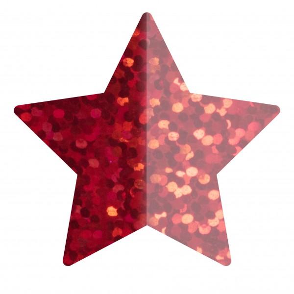 Goodtimes Folienkonfetti 1,7cm Stern 1kg Holo Rot