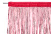 Lasalle Fadenvorhang B1 300cm Breite x 500cm Höhe Rot Rot