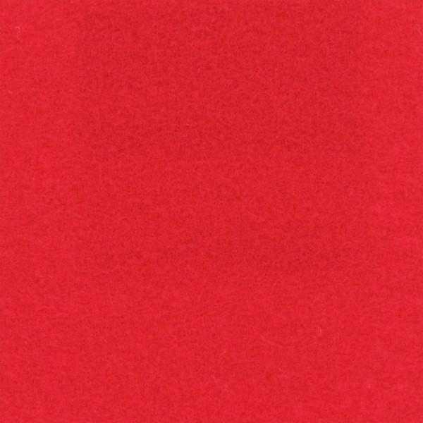 Event Filz Teppich hellrot (Tomato) Meterware 100cm Breite mit Folienabdeckung