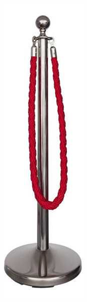 Kordelständer-Set silber/rot (1 Ständer & 1 Kordel)