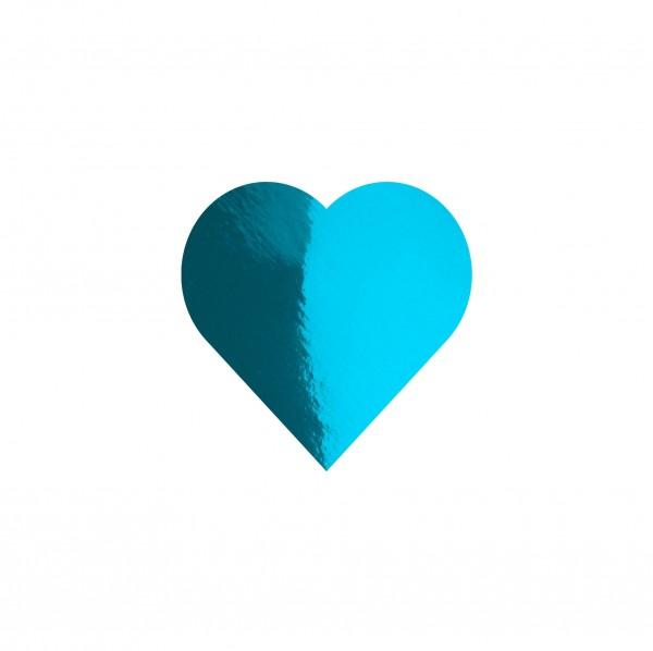 Goodtimes Folienkonfetti 1,7cm Herz 15g Hellblau