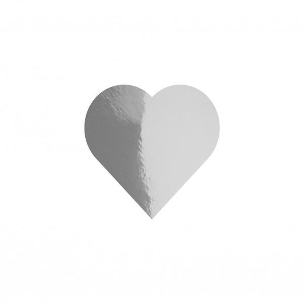 Goodtimes Folienkonfetti 1,7cm Herz 1kg Silber