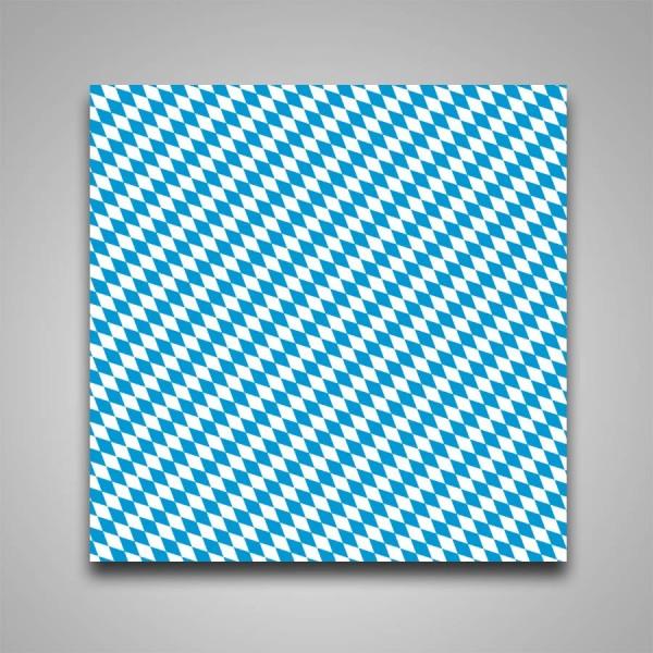 Lackfolie Bayerische Raute blau/weiß, 150my, 130cm Breite, 30m Länge