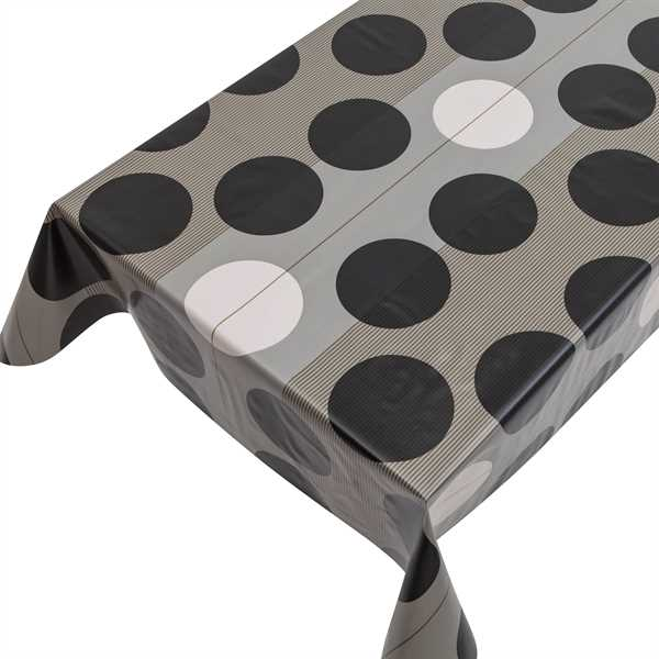 Lackfolie PVC Stripe & Circle Black, Stärke 150my, Breite 140cm, Länge 20m