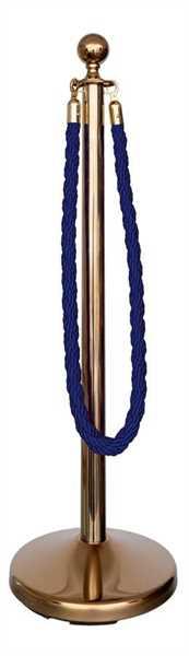 Kordelständer-Set gold/blau (1 Ständer & 1 Kordel)