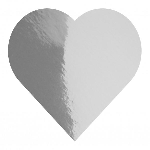 Goodtimes Folienkonfetti 3cm Herz 1kg Silber