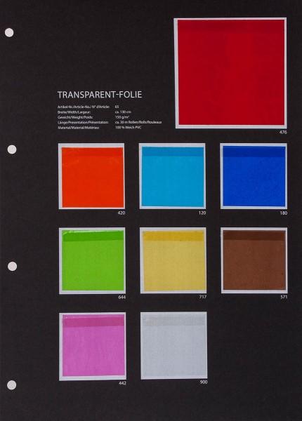 Transparentfolie Musterkarte
