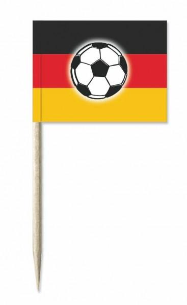 Minifahnen Deutschland mit Ball 50 Stück