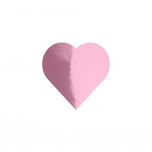 Goodtimes Folienkonfetti 1,7cm Herz 15g Rosa