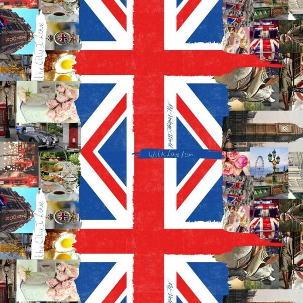 """Wachstuch Tischdecke, Motiv """"London"""""""