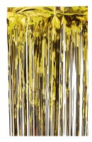 Fransenvorhang, Stärke 50my, Höhe 200cm, Breite 100cm Gold Gold